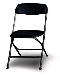 Where to find Chair, Black Folding in Tyler